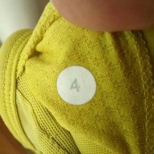 lululemon athletica Tops - Lululemon Yellow Workout Sports Bra size 4